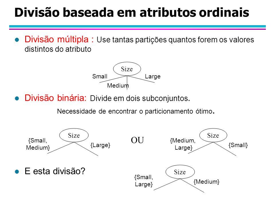 Divisão baseada em atributos ordinais