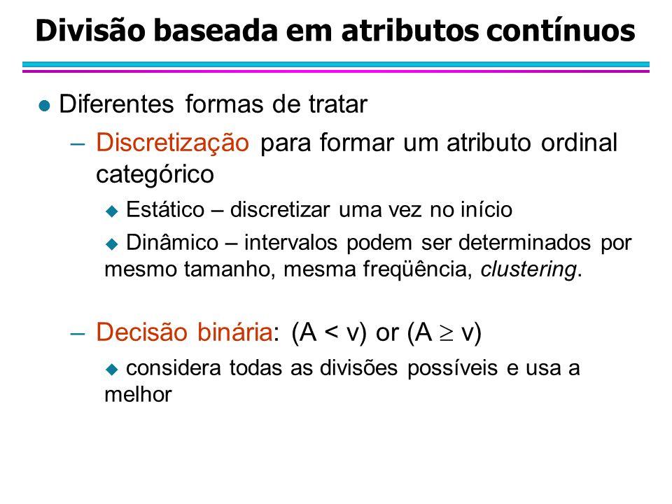 Divisão baseada em atributos contínuos