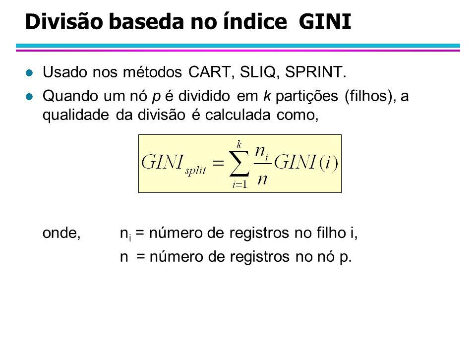 Divisão baseda no índice GINI