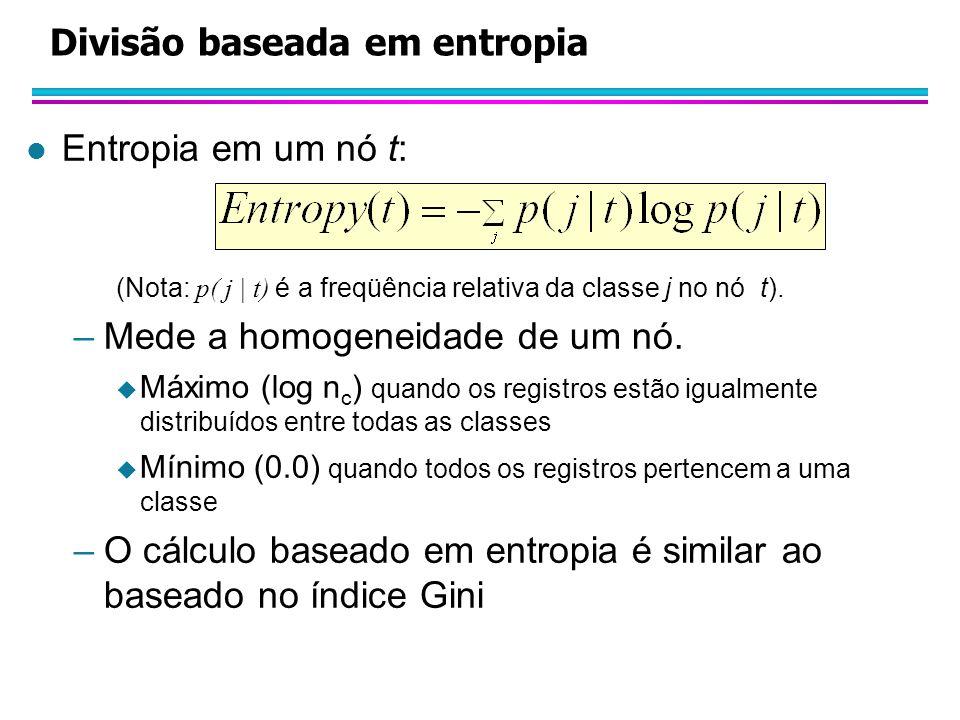 Divisão baseada em entropia