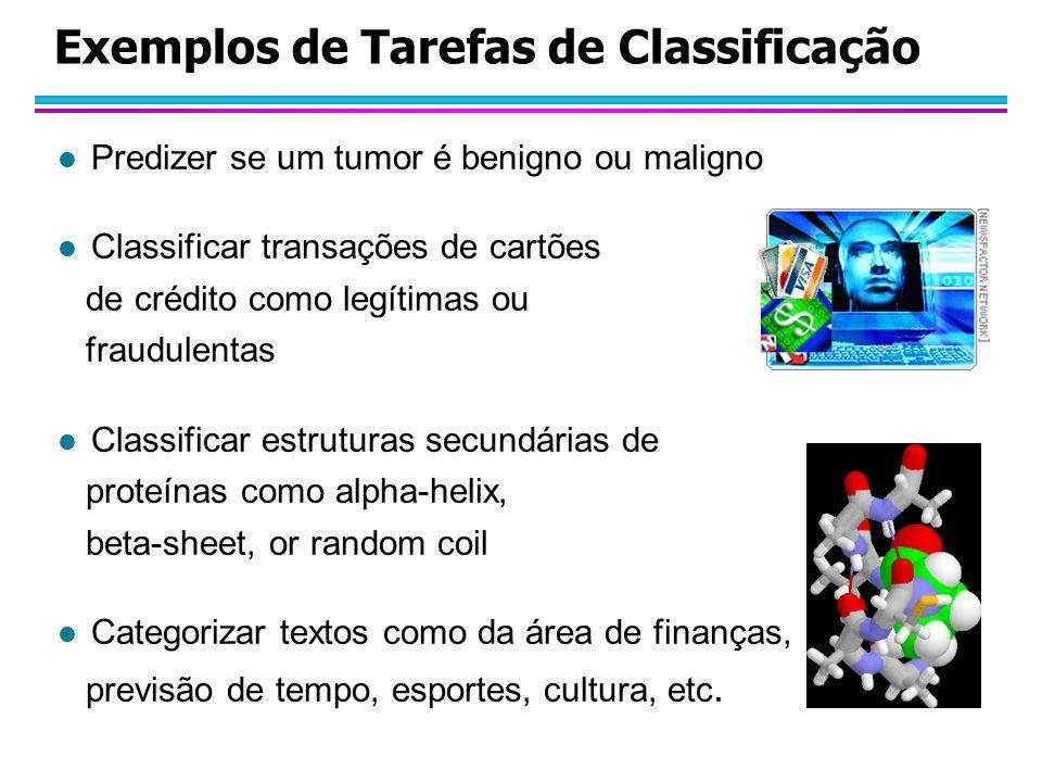 Exemplos de Tarefas de Classificação