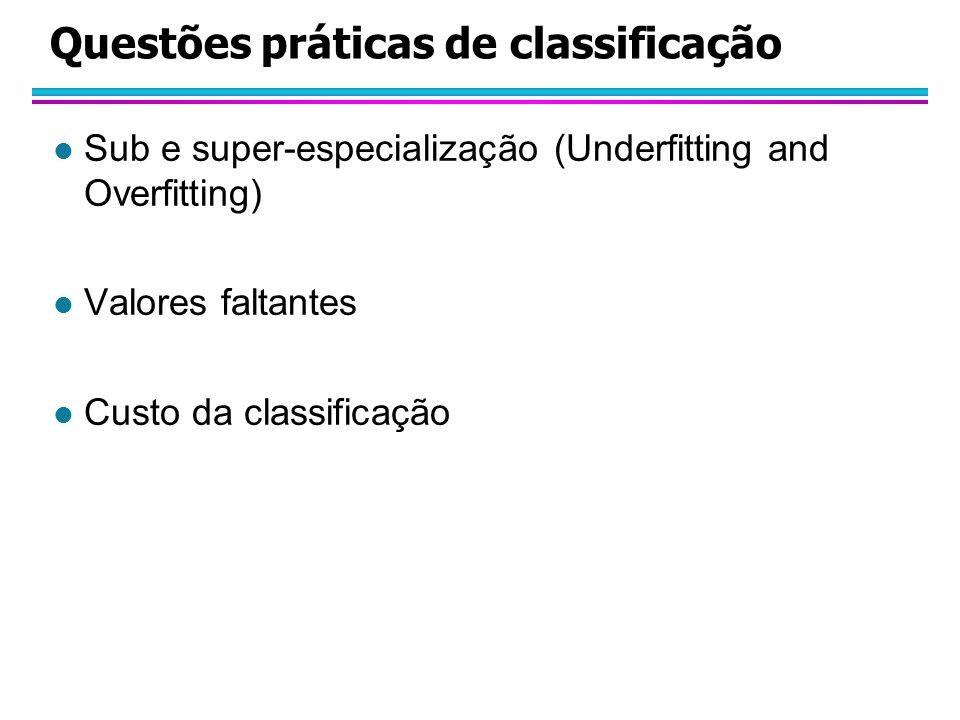 Questões práticas de classificação