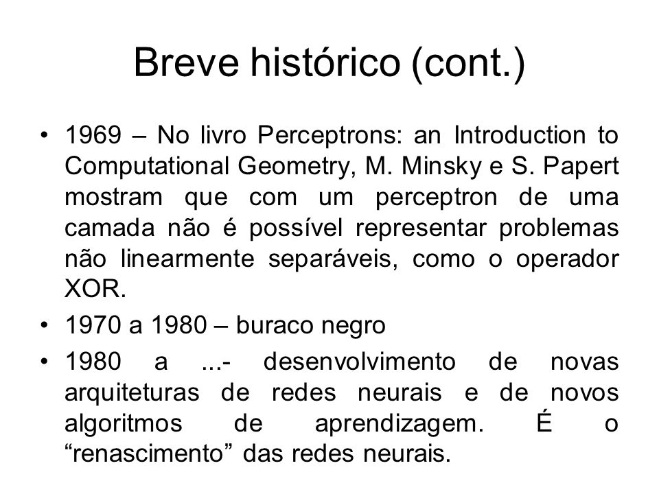 Breve histórico (cont.)