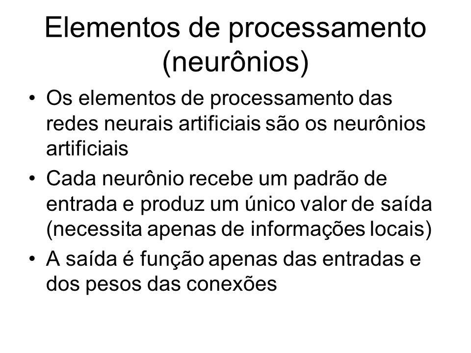 Elementos de processamento (neurônios)