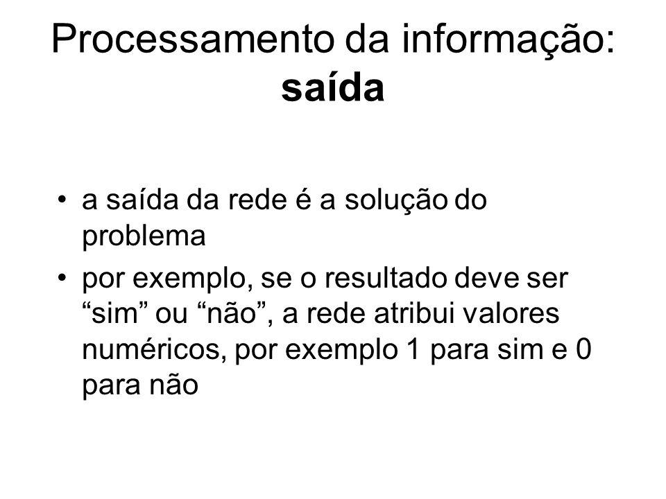 Processamento da informação: saída