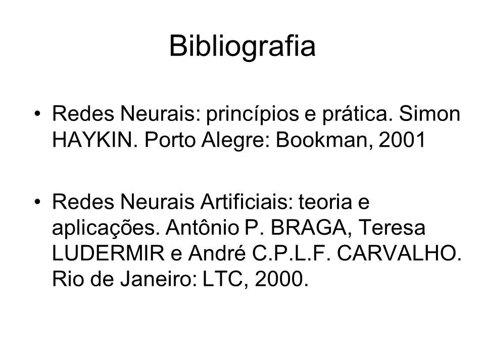 Bibliografia Redes Neurais: princípios e prática. Simon HAYKIN. Porto Alegre: Bookman, 2001.