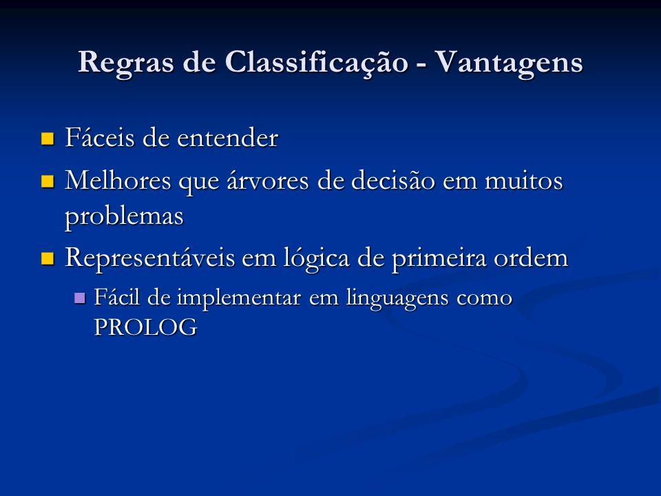 Regras de Classificação - Vantagens