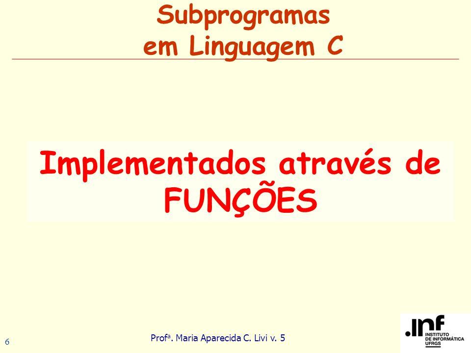 Subprogramas em Linguagem C