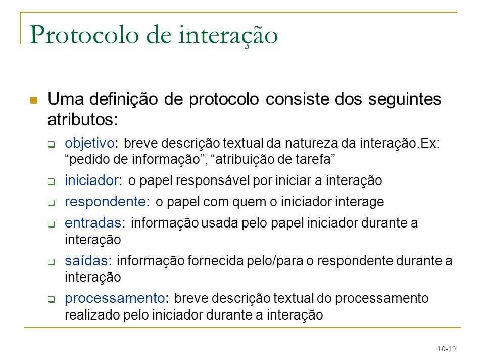 Protocolo de interação