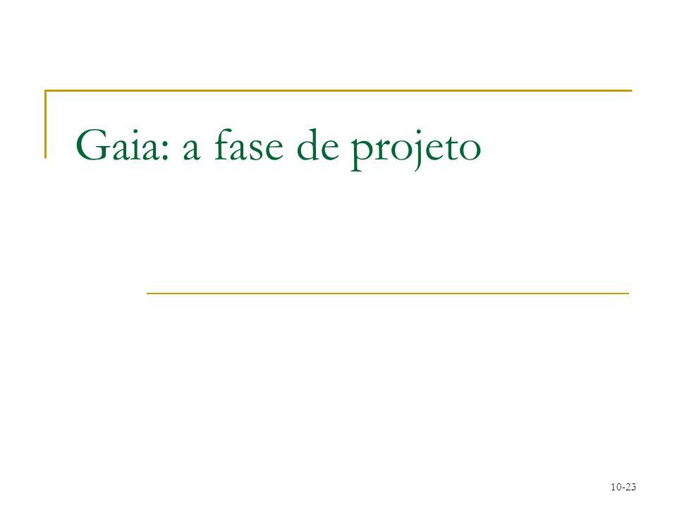 Gaia: a fase de projeto