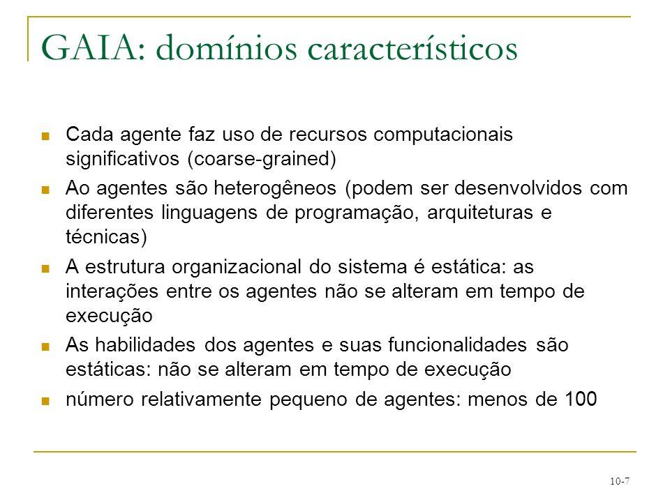 GAIA: domínios característicos