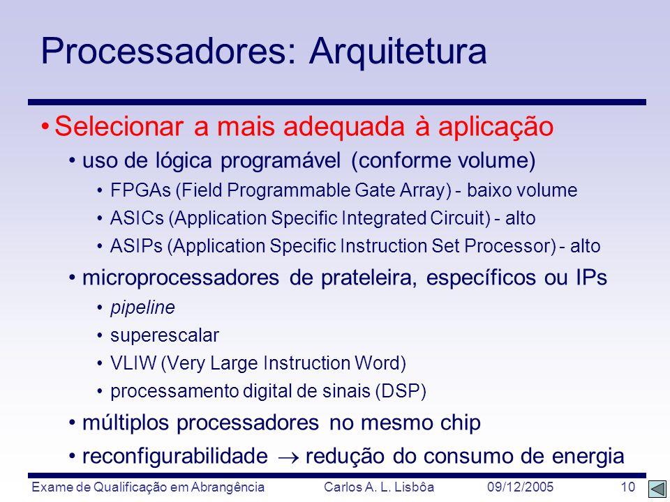 Processadores: Arquitetura