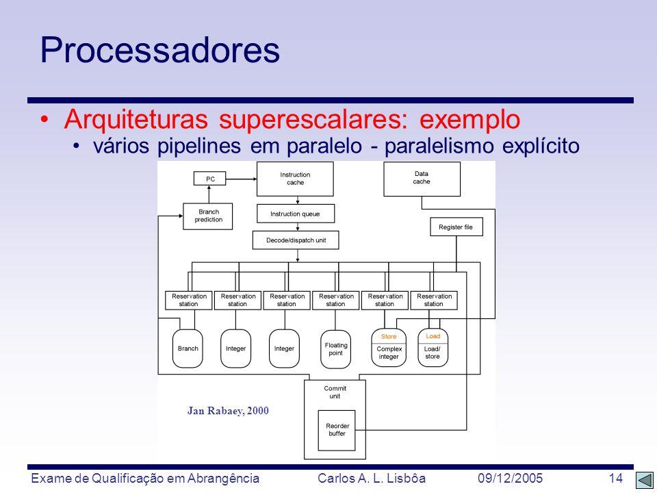 Processadores Arquiteturas superescalares: exemplo