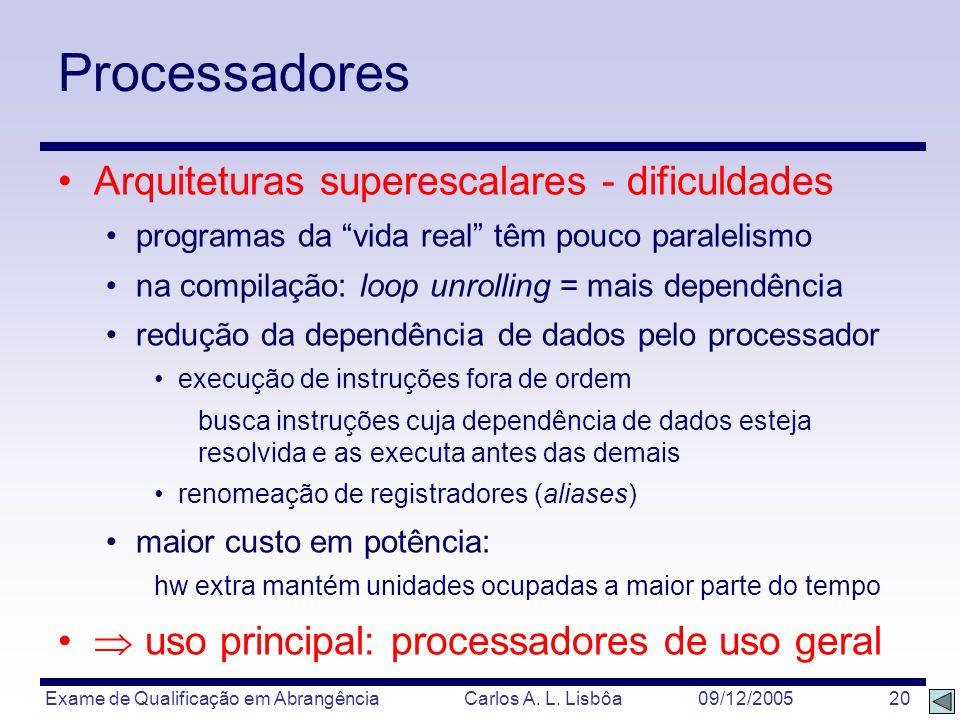 Processadores Arquiteturas superescalares - dificuldades