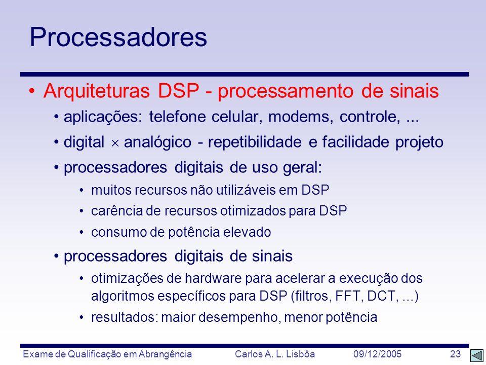 Processadores Arquiteturas DSP - processamento de sinais