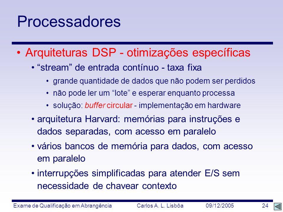 Processadores Arquiteturas DSP - otimizações específicas