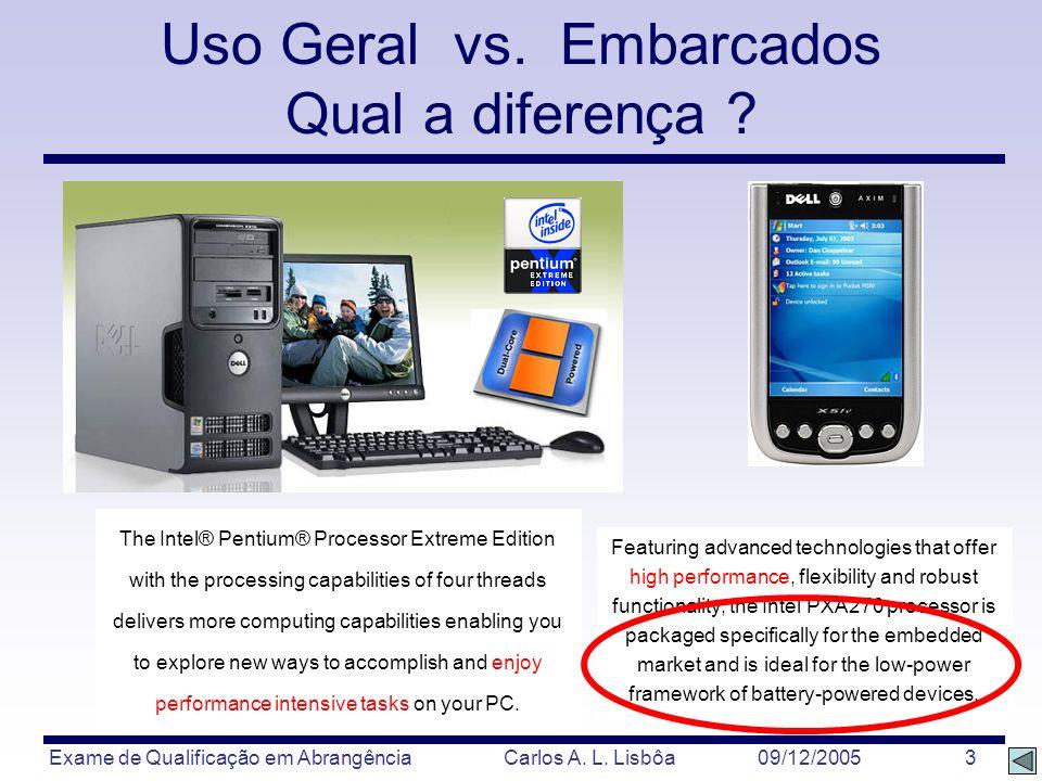 Uso Geral vs. Embarcados Qual a diferença