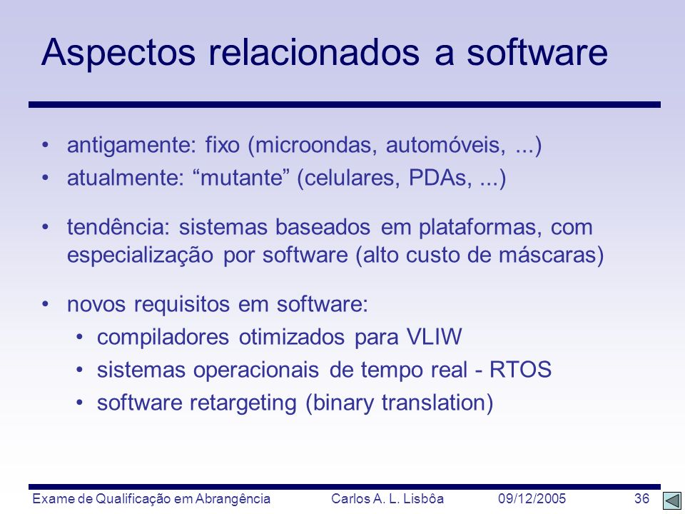 Aspectos relacionados a software