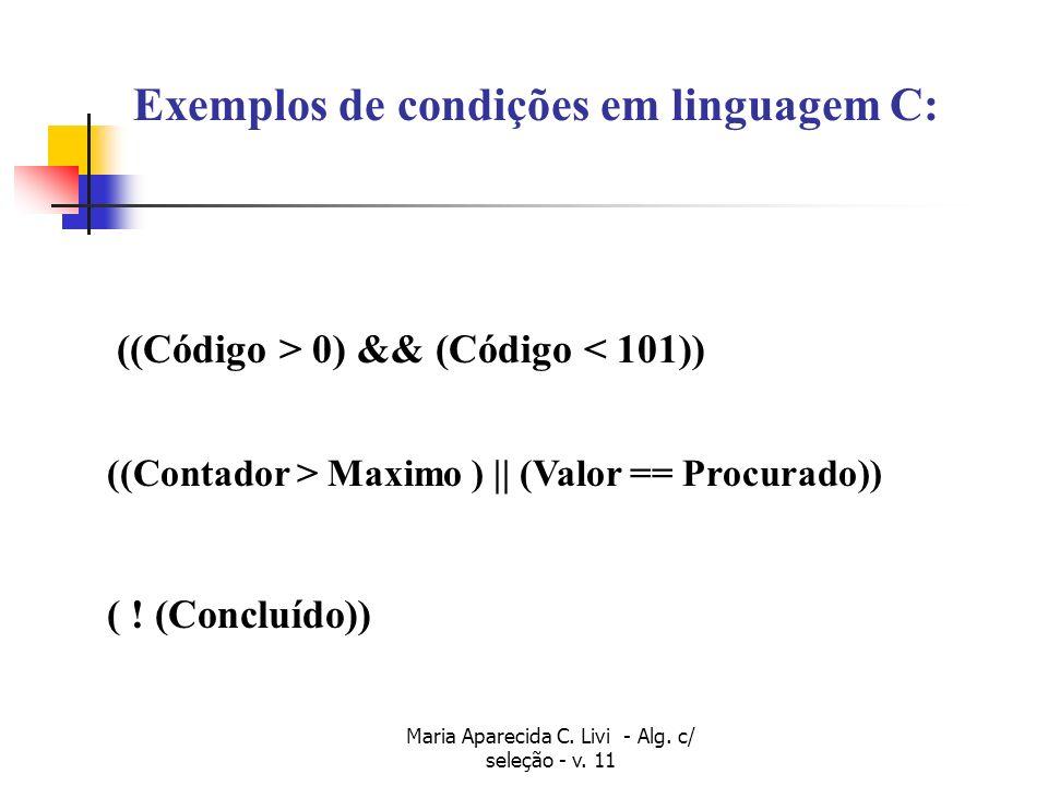 Maria Aparecida C. Livi - Alg. c/ seleção - v. 11