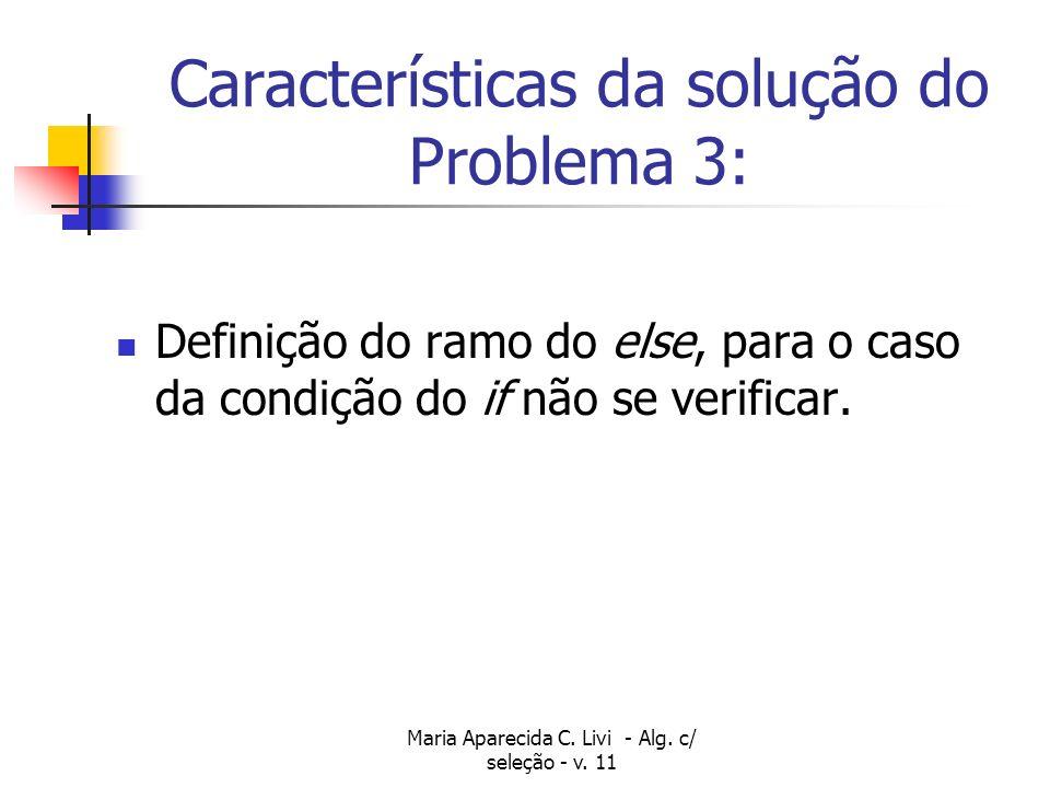 Características da solução do Problema 3: