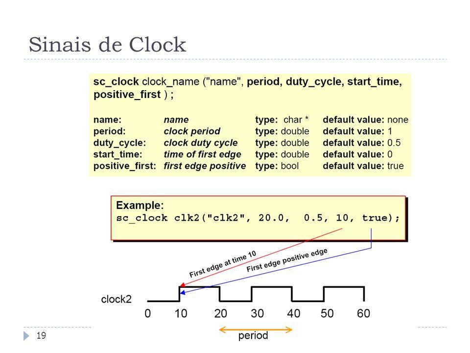 Sinais de Clock