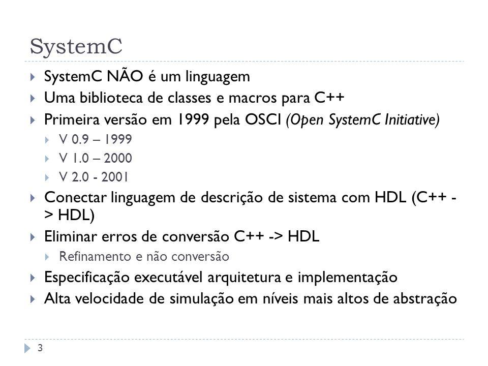 SystemC SystemC NÃO é um linguagem
