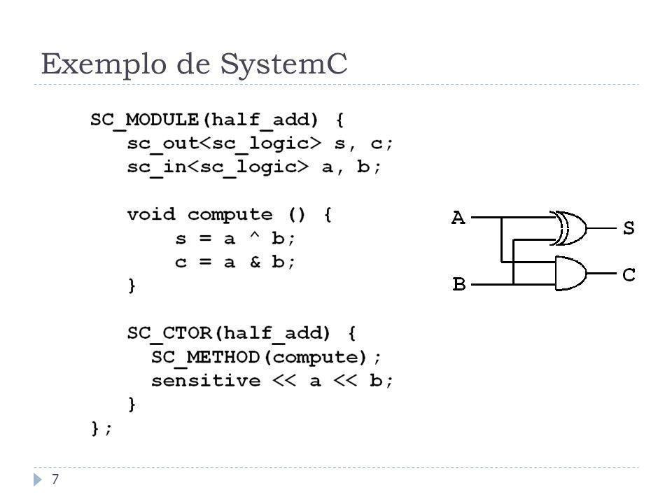 Exemplo de SystemC