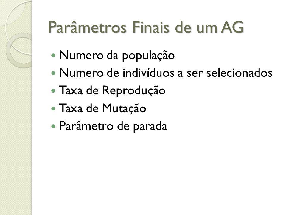 Parâmetros Finais de um AG