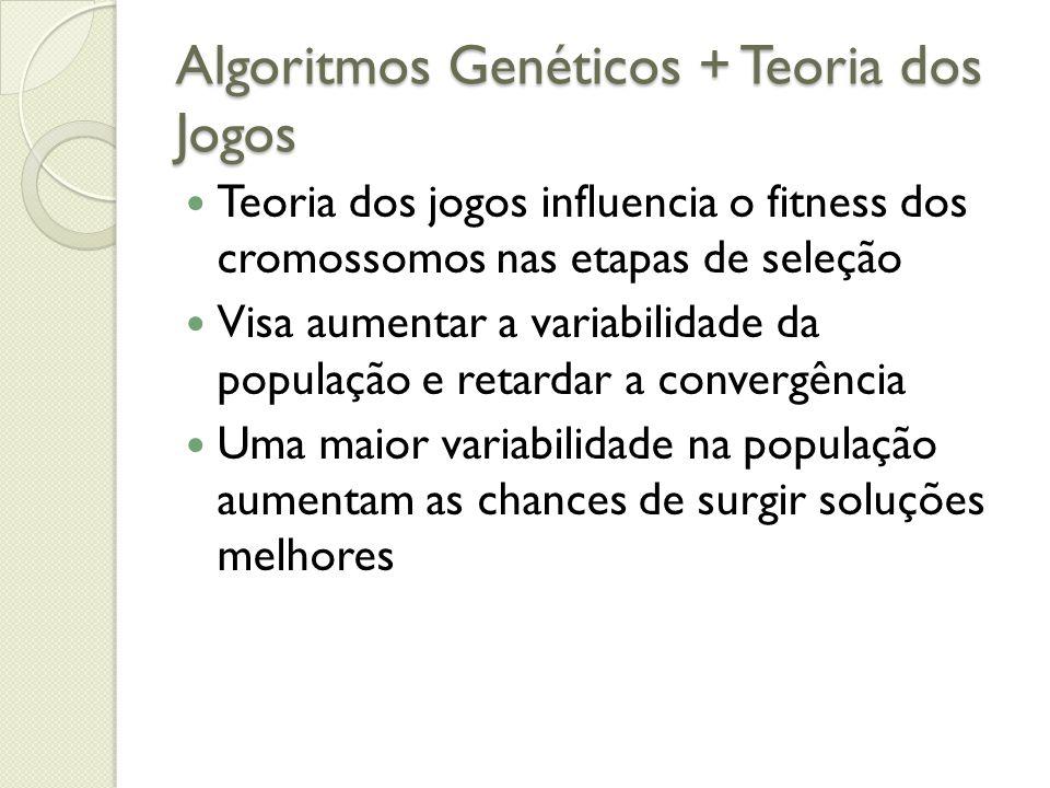 Algoritmos Genéticos + Teoria dos Jogos