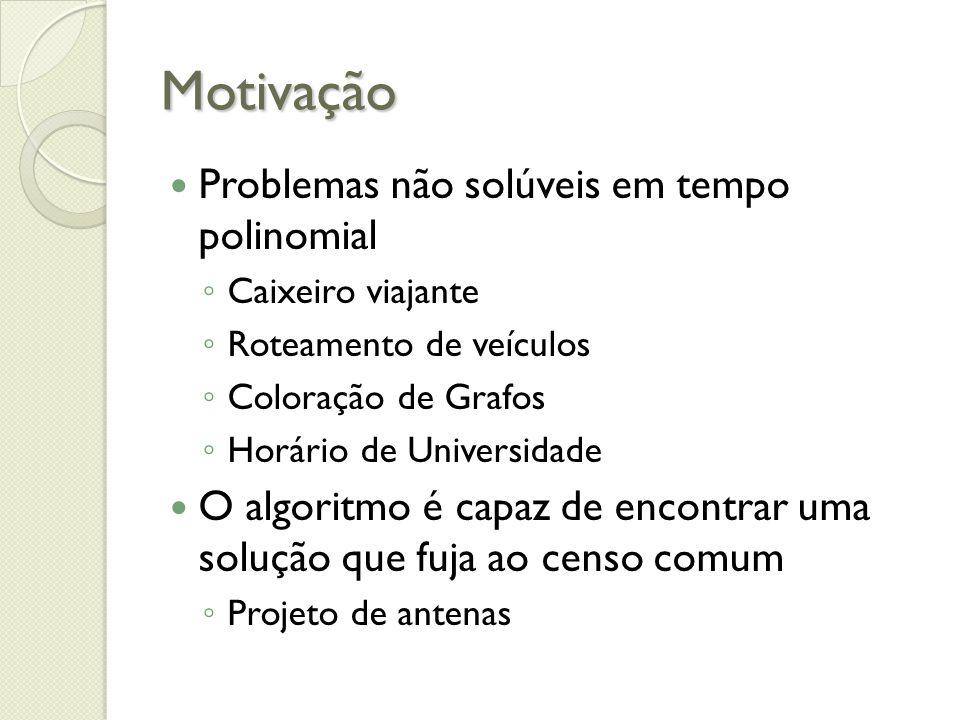 Motivação Problemas não solúveis em tempo polinomial