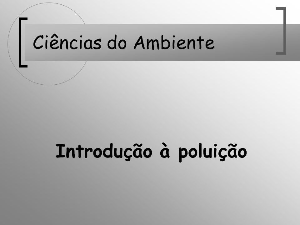Ciências do Ambiente Introdução à poluição