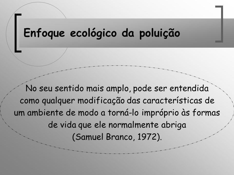 Enfoque ecológico da poluição