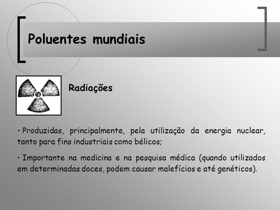 Poluentes mundiais Radiações