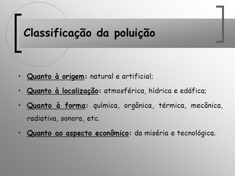 Classificação da poluição