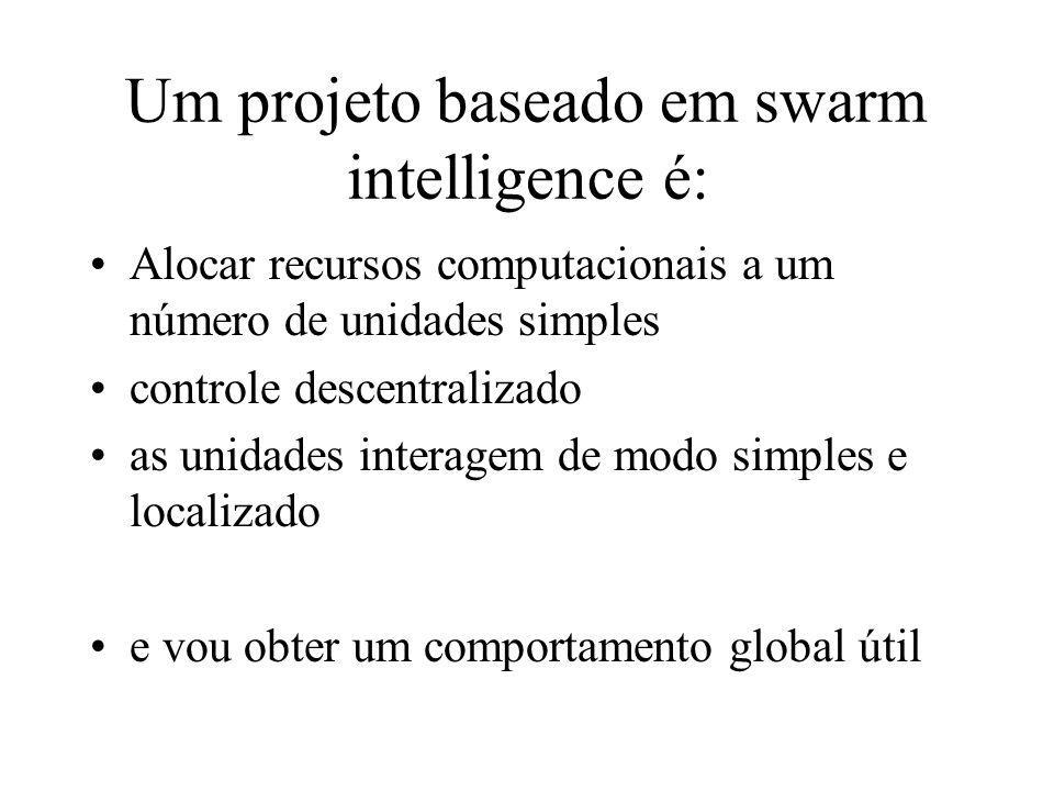 Um projeto baseado em swarm intelligence é: