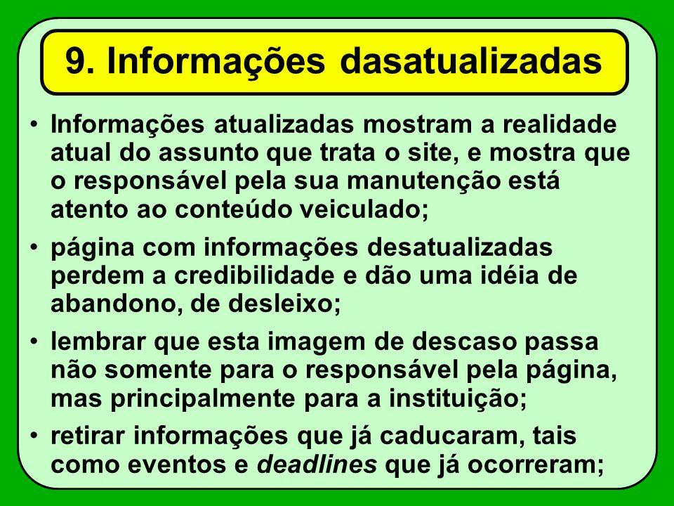 9. Informações dasatualizadas