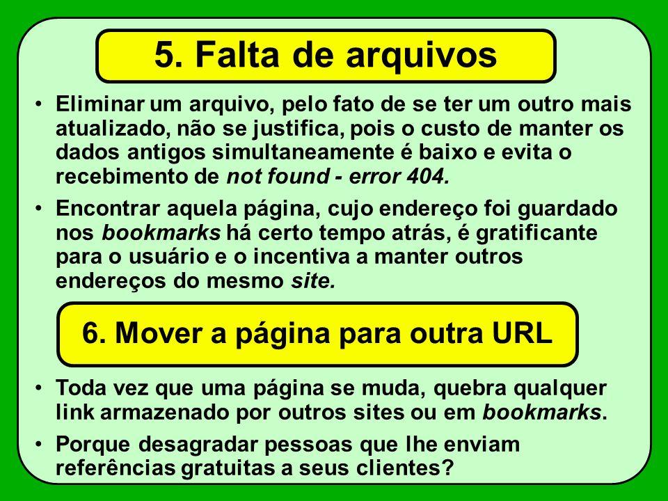 6. Mover a página para outra URL