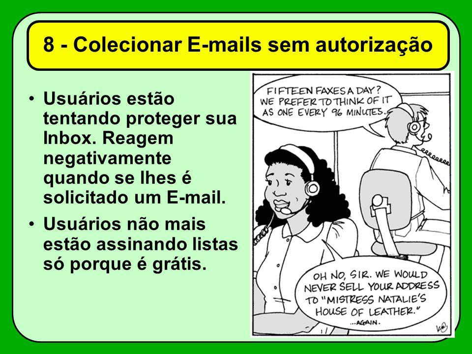 8 - Colecionar E-mails sem autorização
