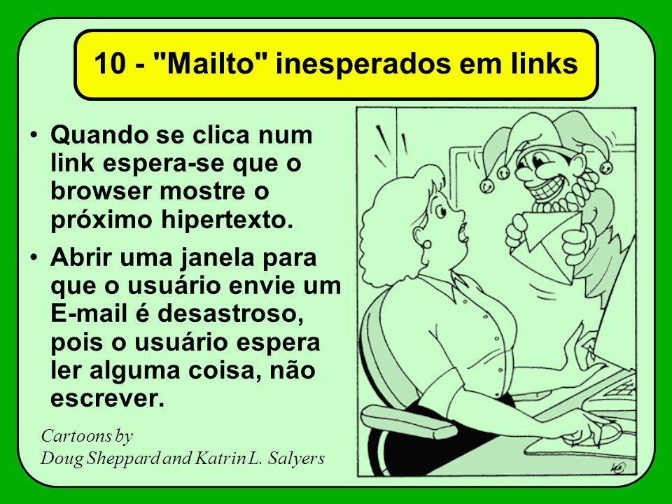 10 - Mailto inesperados em links