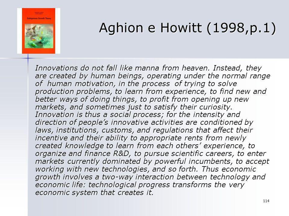 Aghion e Howitt (1998,p.1)