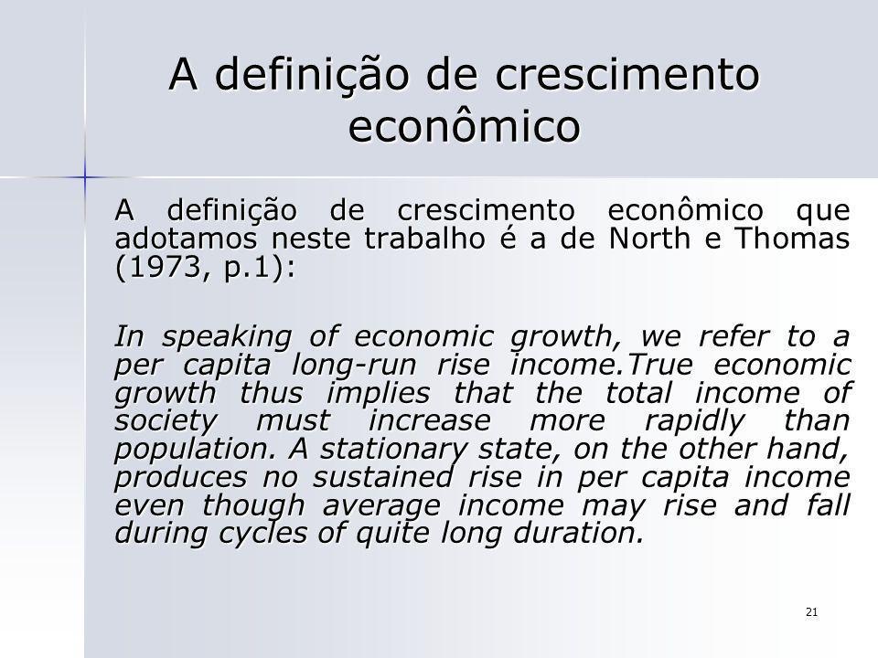 A definição de crescimento econômico