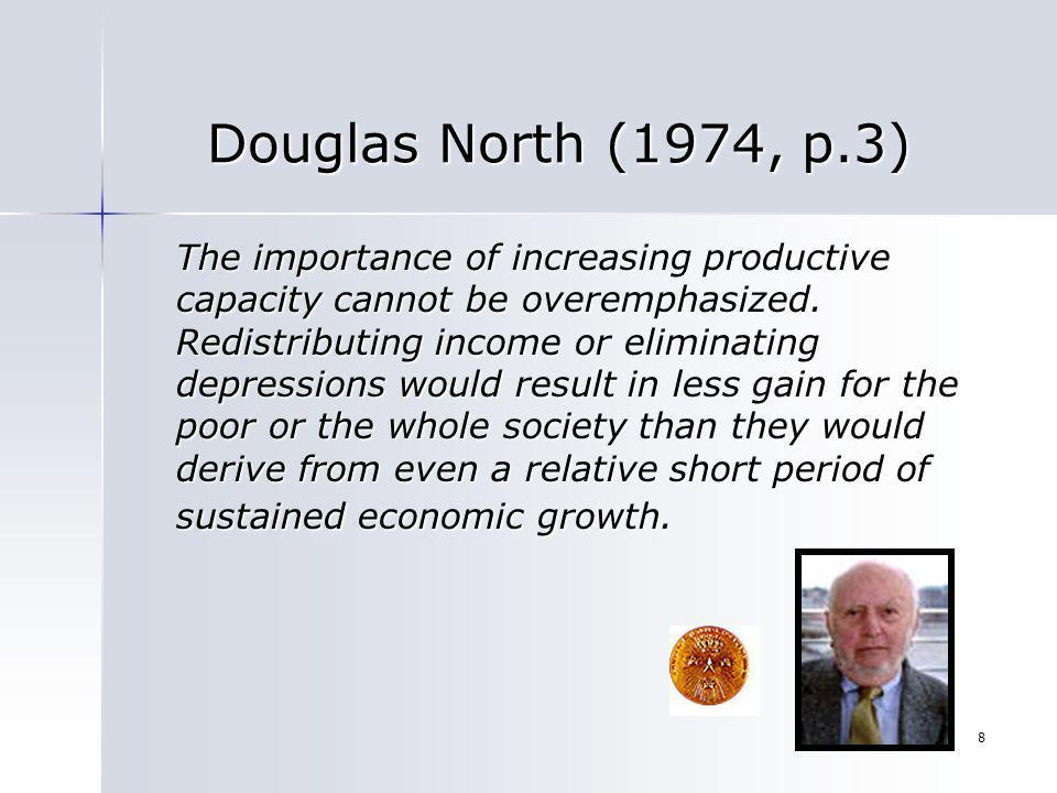 Douglas North (1974, p.3)