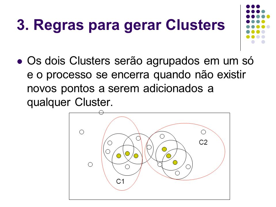 3. Regras para gerar Clusters