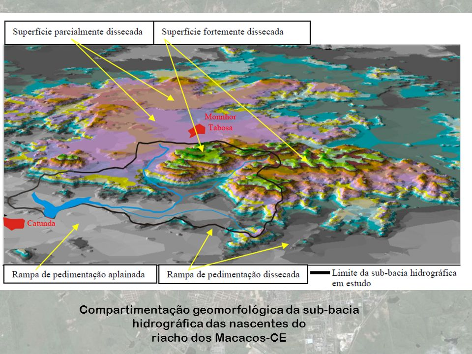 Compartimentação geomorfológica da sub-bacia hidrográfica das nascentes do