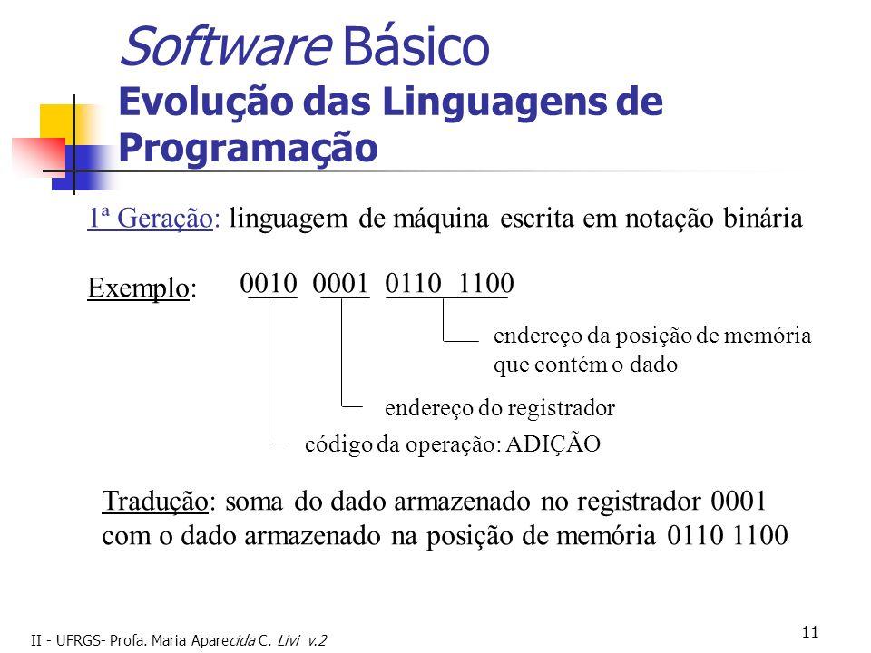 Software Básico Evolução das Linguagens de Programação