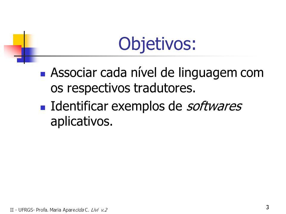 Objetivos: Associar cada nível de linguagem com os respectivos tradutores.