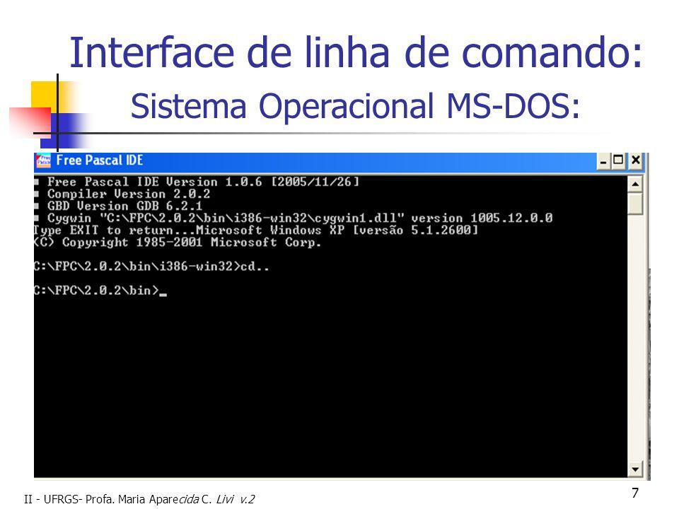 Interface de linha de comando: