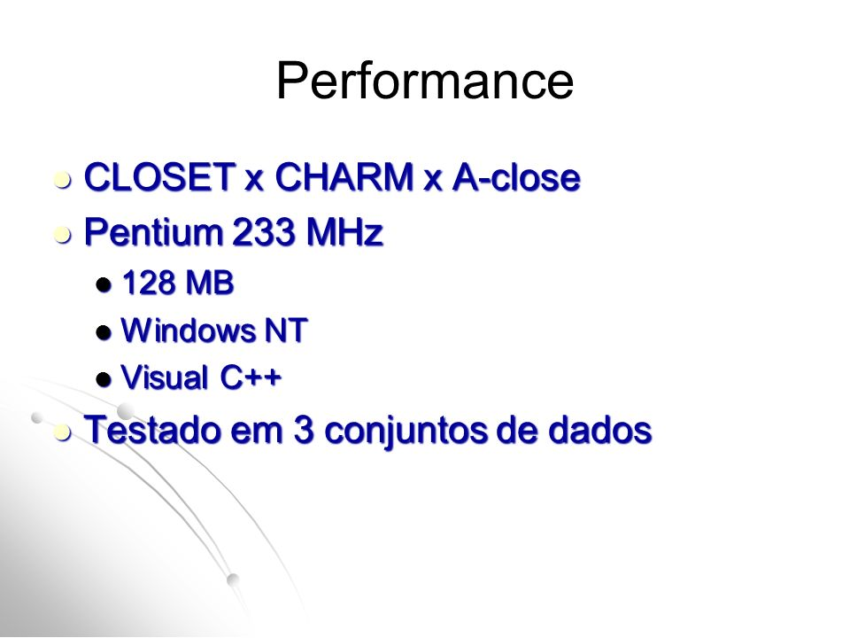 Performance CLOSET x CHARM x A-close Pentium 233 MHz