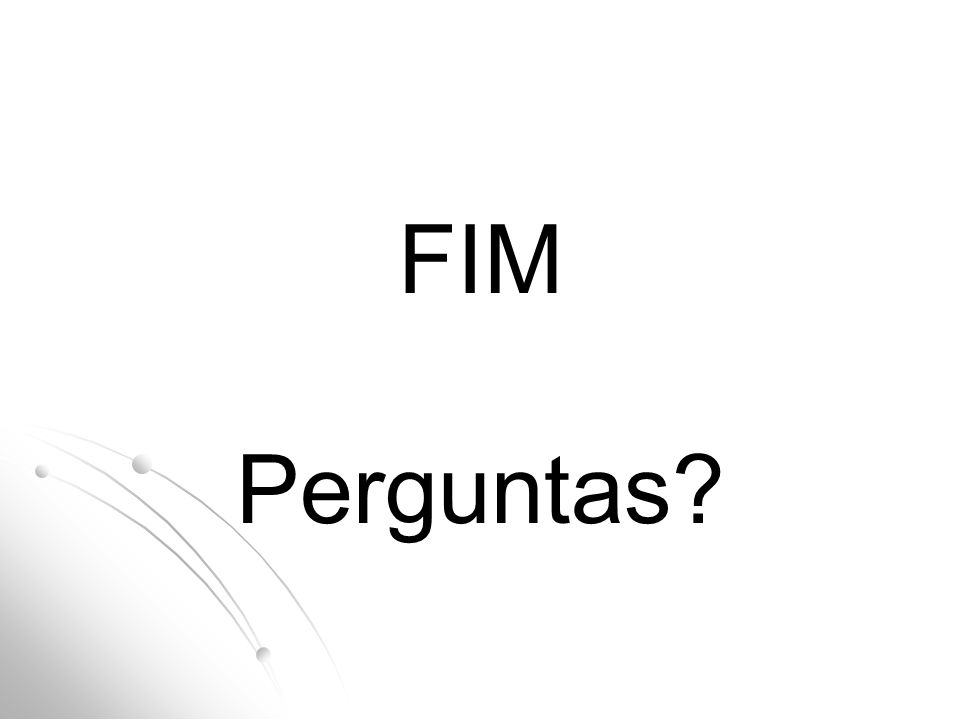 FIM Perguntas