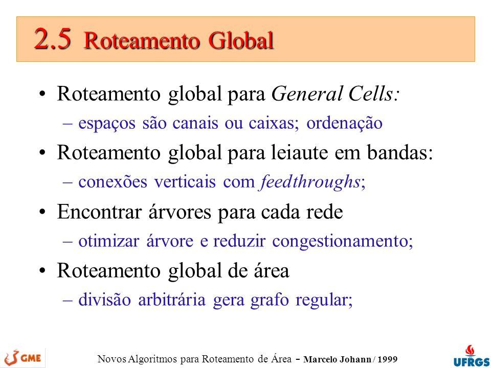 2.5 Roteamento Global Roteamento global para General Cells: